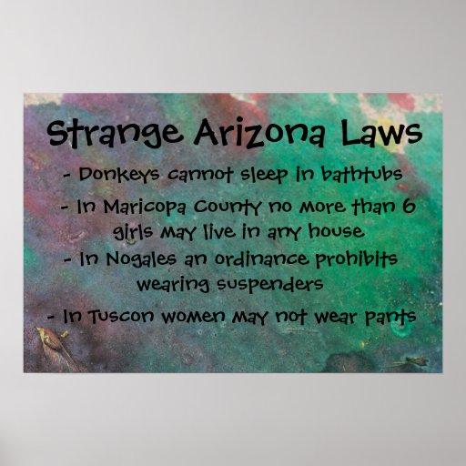 Leyes extrañas de Arizona Posters