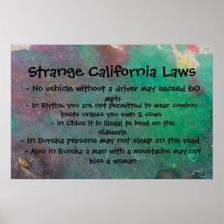Leyes extrañas de California Poster