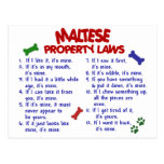 Leyes MALTESAS 2 de la propiedad Postales