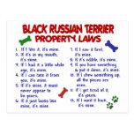 Leyes NEGRAS 2 de la propiedad de TERRIER del RUSO Postales