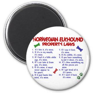 Leyes NORUEGAS 2 de la propiedad de ELKHOUND Imán