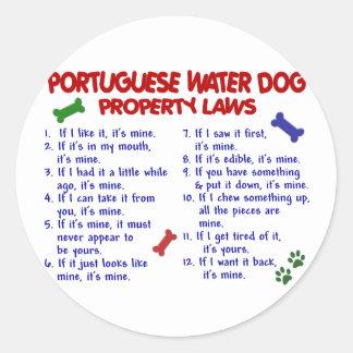 Leyes PORTUGUESAS 2 de la propiedad del PERRO de Pegatina Redonda