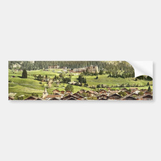 Leysin, general view of village and hotels, Nand, Bumper Stickers