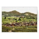 Leysin, general view of village and hotels, Nand, Cards