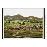 Leysin, general view of village and hotels, Nand, Card