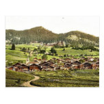 Leysin, general view of village and hotels, Nand, Postcard