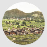 Leysin, general view of village and hotels, Nand, Stickers