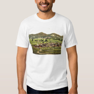 Leysin, general view of village and hotels, Nand, T-shirt
