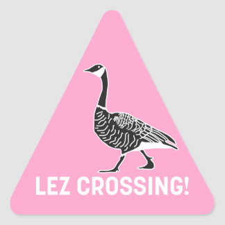 Lez Crossing! Triangle Sticker
