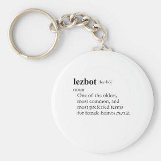 LEZBOT (definition) Keychain