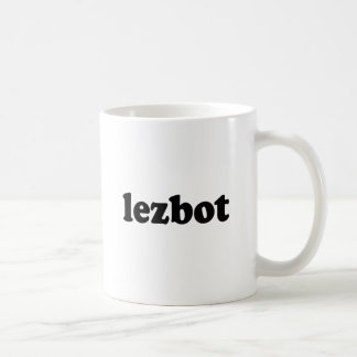 LEZBOT CLASSIC WHITE COFFEE MUG