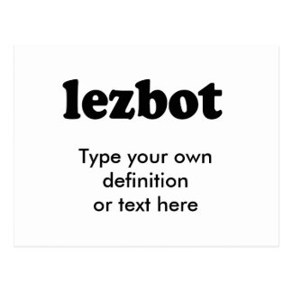 LEZBOT POST CARDS