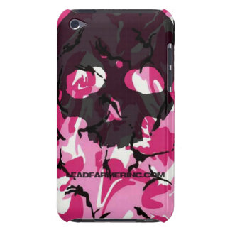 LFI Double Tap Skull Pink camo for the i-pod touch Barely There iPod Cover