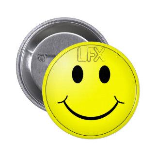 LFX Button LFX On My Mind Im Happy Smiley Yellow