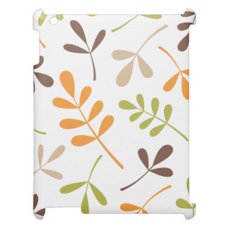 Lg Assorted Leaves Brown Orange Green Sand White Cover For The iPad
