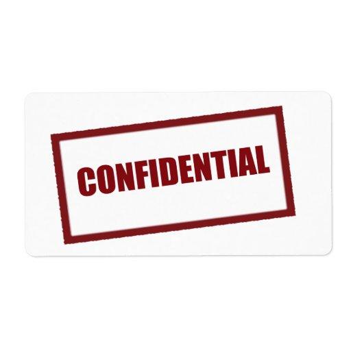 LG confidencial. Etiqueta de Avery Etiquetas De Envío