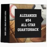Lg Custom All-Star Sports Athlete School Notebook 3 Ring Binder