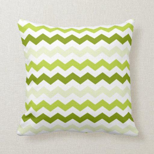 LG Green Chevron Zig Zag Pattern Throw Pillow Zazzle