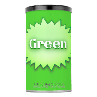 Lg. Green Hot Chocolate Drink Mix