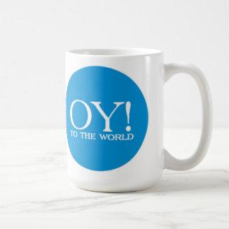 LG judío. ¡Taza - Oy! al mundo Taza Básica Blanca