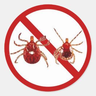 LG. Pegatinas, conciencia de la enfermedad de Lyme Pegatina Redonda