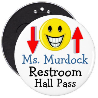 Lg. School Hall Pass / Button by SRF