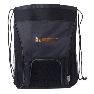 LGAR Custom Drawstring Backpack, Black Drawstring Backpack