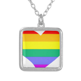 lgbt13 silver plated necklace