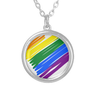 lgbt16 silver plated necklace