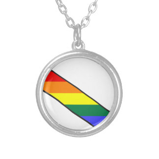 lgbt26 silver plated necklace