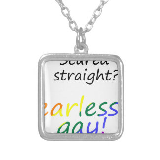 lgbt27 silver plated necklace