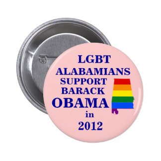 LGBT Alabamians for Obama 2012 Pinback Button
