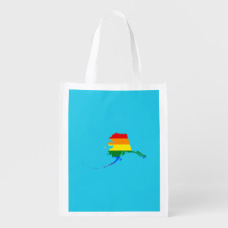LGBT Alaska US state flag map Grocery Bag