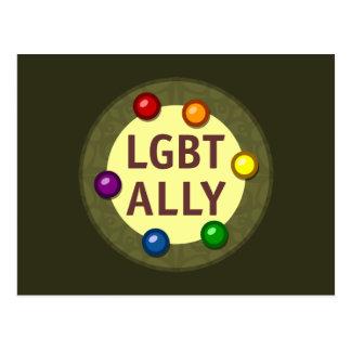 LGBT Ally Baubles Postcard