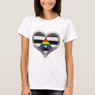 LGBT Ally Chrome Heart T-Shirt