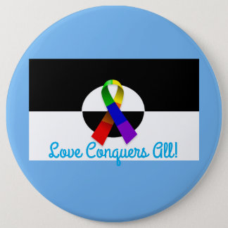 LGBT Ally Pride Large Button Pin