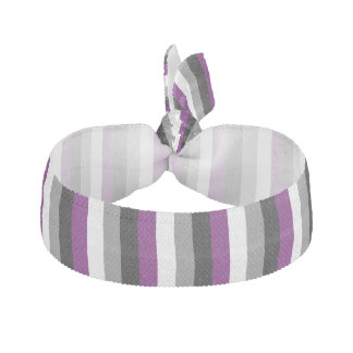 LGBT Asexual Pride Flag Colors Ribbon Hair Tie