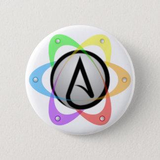 LGBT Atheist Atom Symbol.png Pinback Button
