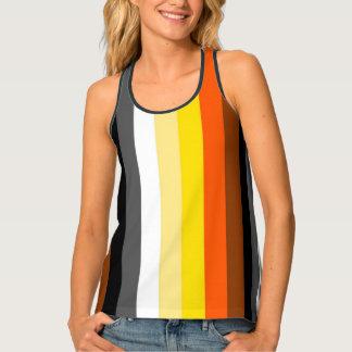 LGBT Bear Ursula Pride Flag Colors Racerback Tank Top