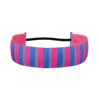 "LGBT Bisexual Pride Flag Colors 1-1/2"" Athletic Headband"