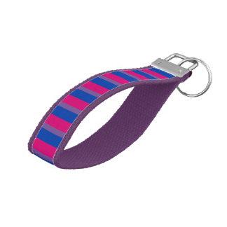 LGBT Bisexual Pride Flag Colors Wrist Keychain