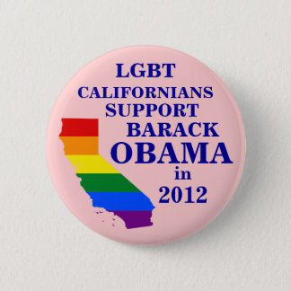 LGBT Californians for Obama 2012 Pinback Button