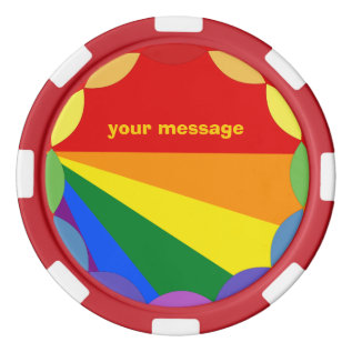 Lgbt Ceramic Chip Tokens Poker Chip Set at Zazzle