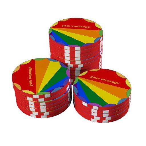 LGBT Ceramic Chip Tokens Set Of Poker Chips
