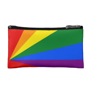 Lgbt Color Rainbow Cosmetics Makeup Cosmetic Bag at Zazzle