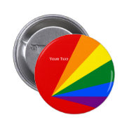 LGBT Color Rainbow Flag Badge 2 Inch Round Button at Zazzle