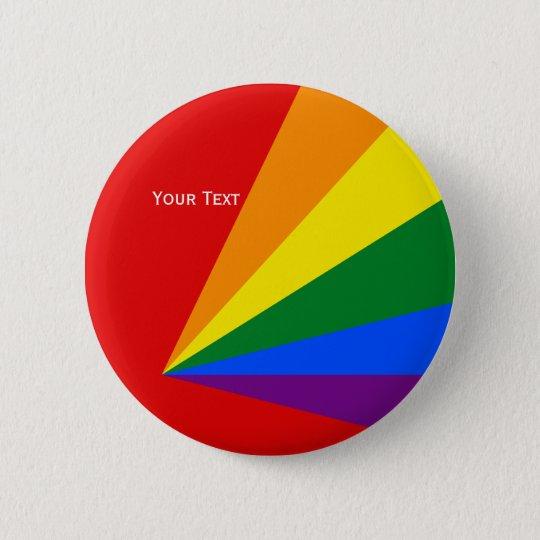 LGBT Color Rainbow Flag Badge Button