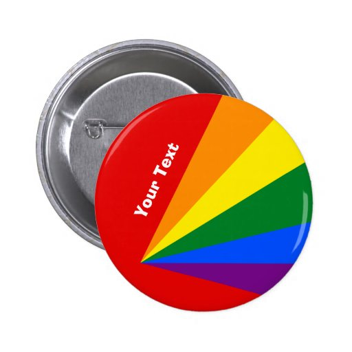 LGBT Color Rainbow Flag Badge Large Text Button