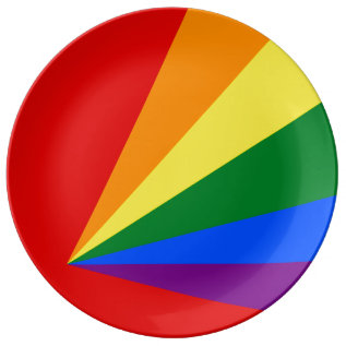 Lgbt Color Rainbow Flag Dinner Plate at Zazzle