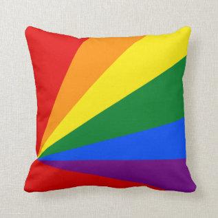 Lgbt Color Rainbow Flag Home Decor Throw Pillow at Zazzle